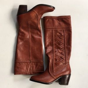 EUC Fossil leather boots
